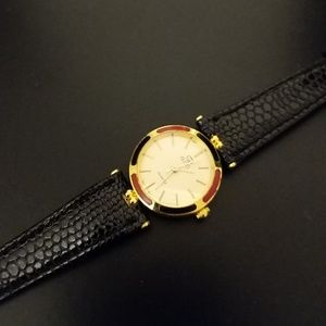 Vintage faux gucci leather watch